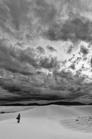 White Sands Stormy